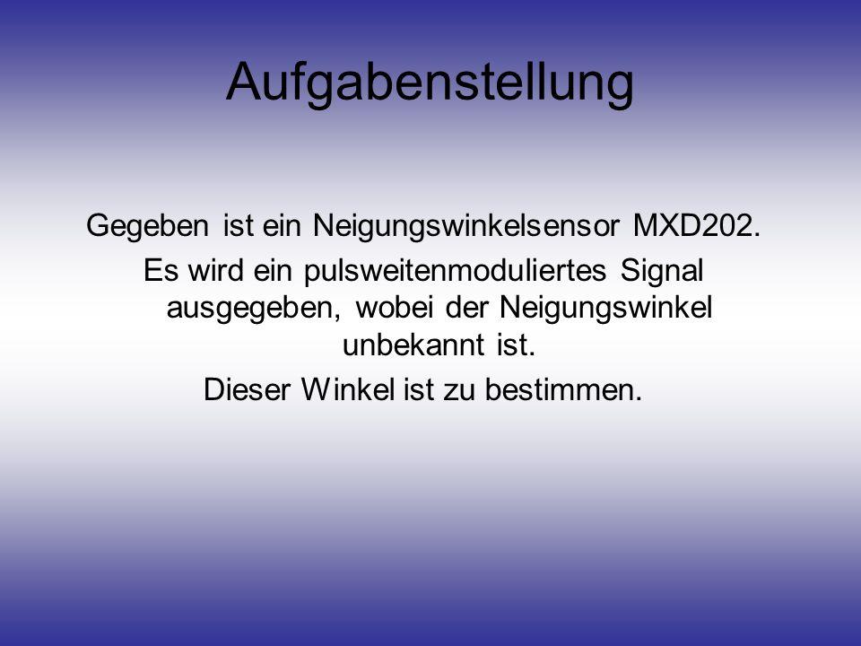 Aufgabenstellung Gegeben ist ein Neigungswinkelsensor MXD202.