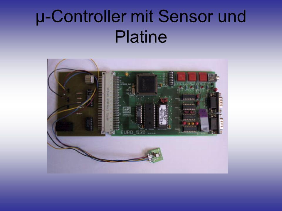 µ-Controller mit Sensor und Platine