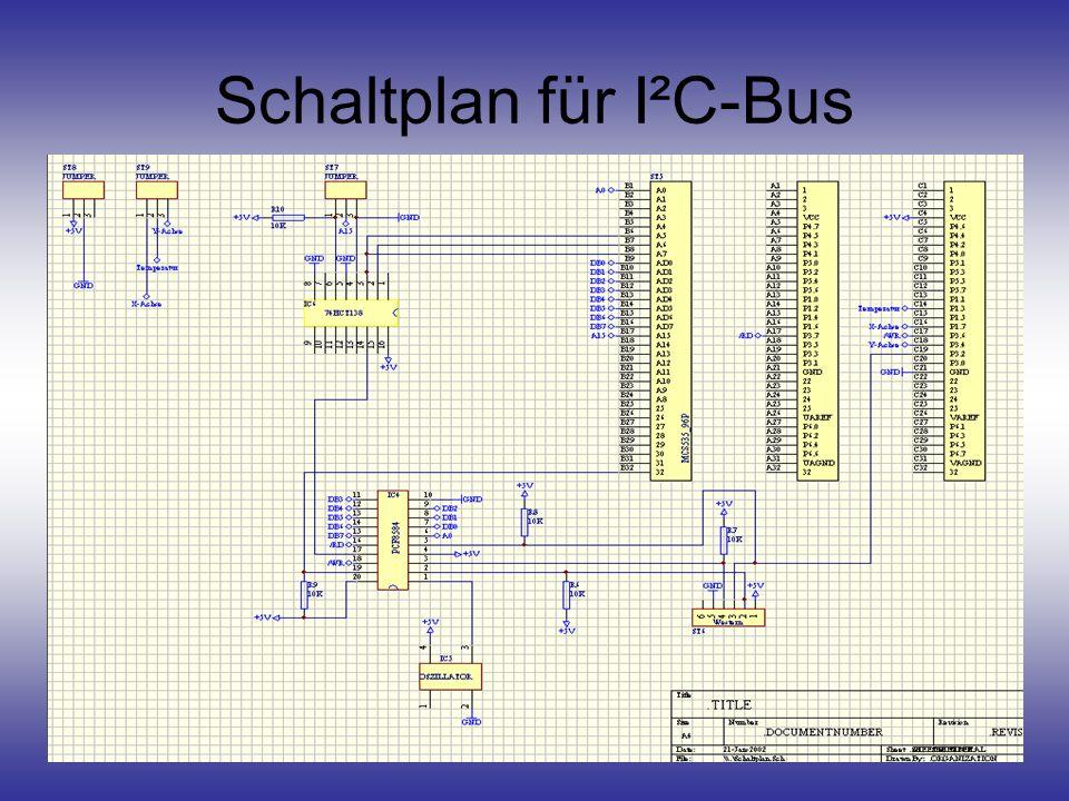 Schaltplan für I²C-Bus