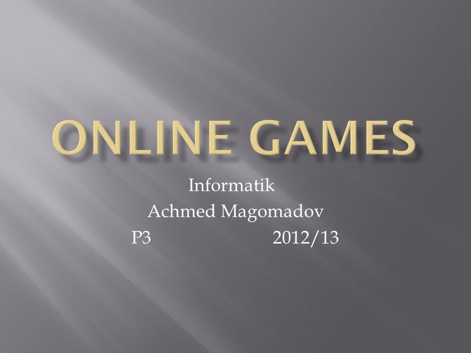 Informatik Achmed Magomadov P32012/13