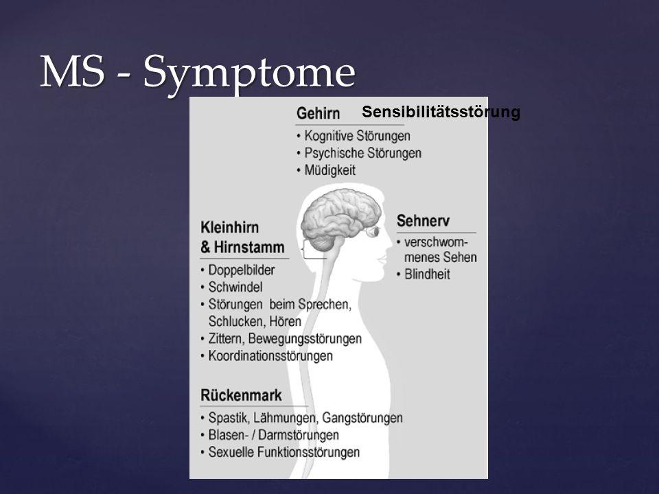 MS - Symptome Sensibilitätsstörung