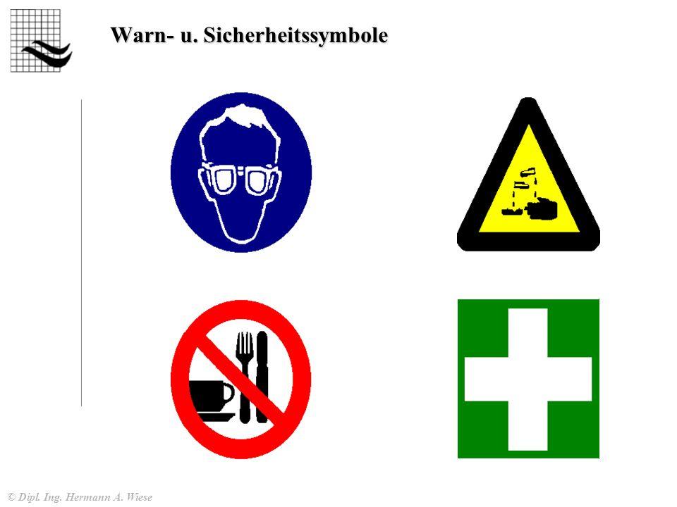 © Dipl. Ing. Hermann A. Wiese Warn- u. Sicherheitssymbole
