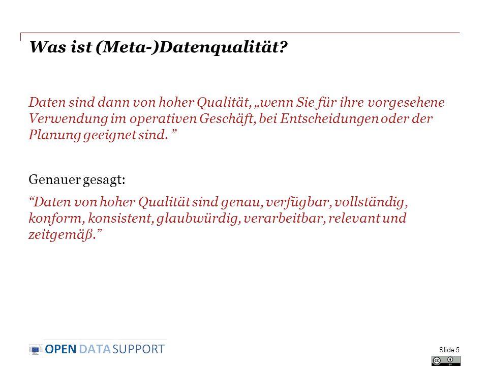 Was ist (Meta-)Datenqualität.