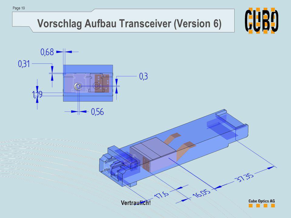 Page 19 Vertraulich! Vorschlag Aufbau Transceiver (Version 6)