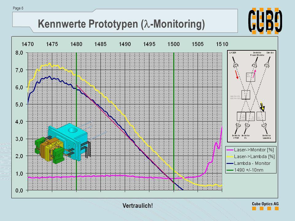 Page 6 Vertraulich! Kennwerte Prototypen ( -Monitoring)