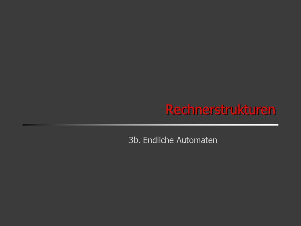 3b.2 Ziele Modellierung und Realisierung von Steuerungen Beispiele –Autoelektronik: ABS-System –Consumer: Kamera, Waschmaschine, CD-Player, … –Steuerung technischer Anlagen Steuerung (Steuerwerk) Aktuatoren Sensoren Ausgaben Eingaben