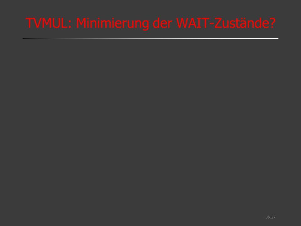 3b.27 TVMUL: Minimierung der WAIT-Zustände?
