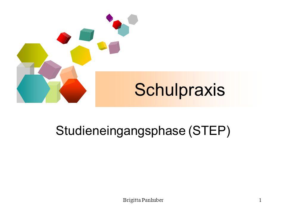 Brigitta Panhuber1 Schulpraxis Studieneingangsphase (STEP)