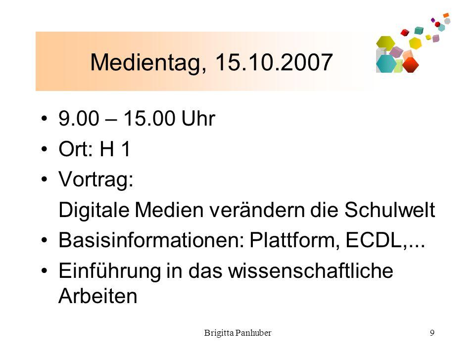 Brigitta Panhuber10 H – 1 – M Info Vorlesung bei Mag.