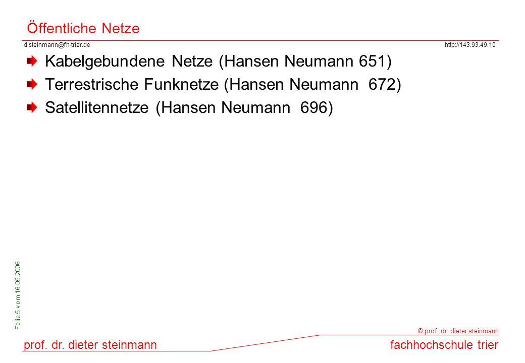 d.steinmann@fh-trier.dehttp://143.93.49.10 prof. dr. dieter steinmannfachhochschule trier © prof. dr. dieter steinmann Folie 5 vom 16.05.2006 Öffentli