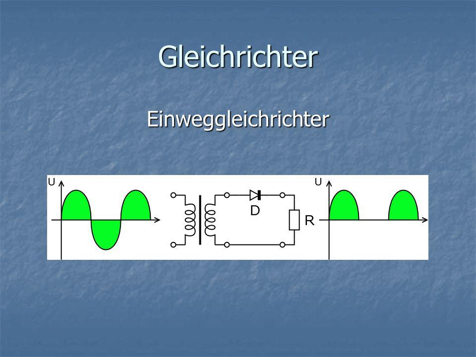 Gleichrichter Doppelweggleichrichter