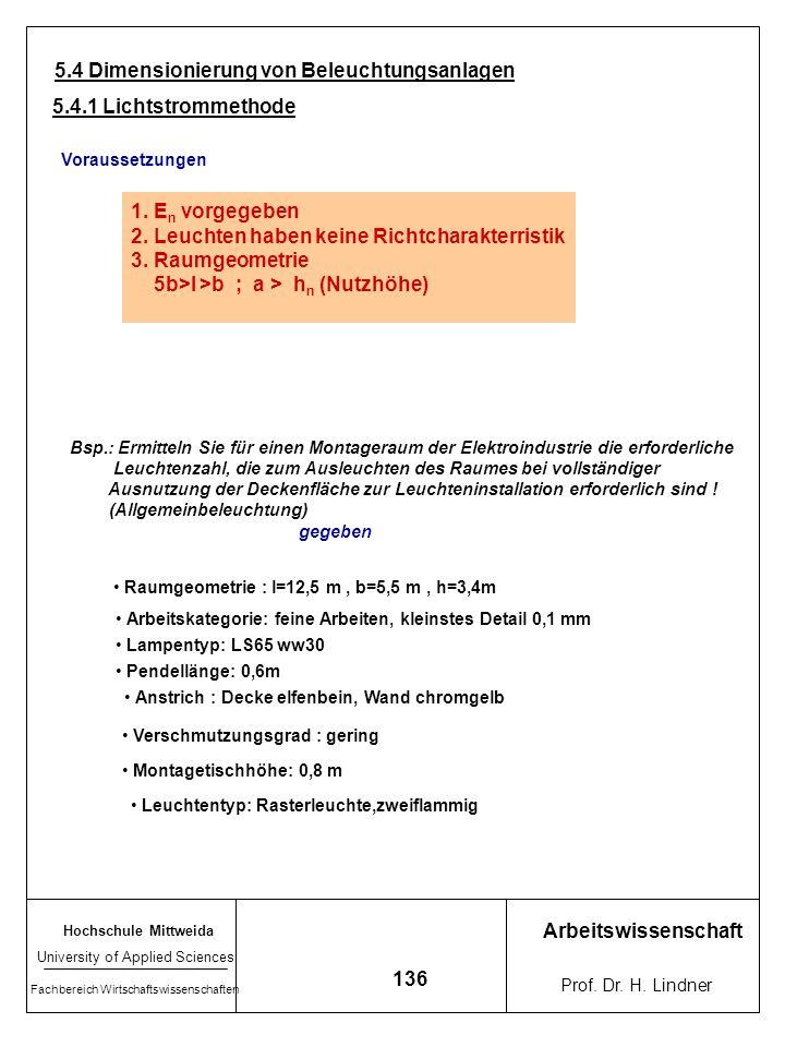 Hochschule Mittweida University of Applied Sciences Fachbereich Wirtschaftswissenschaften Arbeitswissenschaft Prof. Dr. H. Lindner 135 Konsequenzen Li