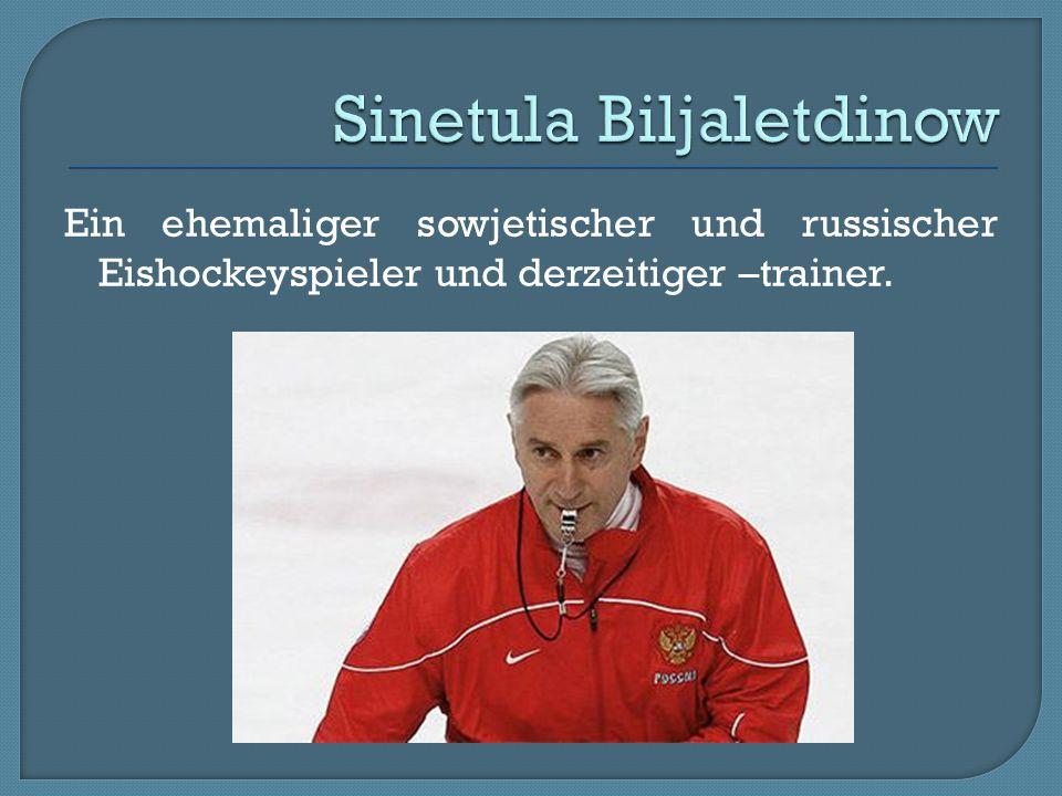 Ein ehemaliger sowjetischer und russischer Eishockeyspieler und derzeitiger –trainer.