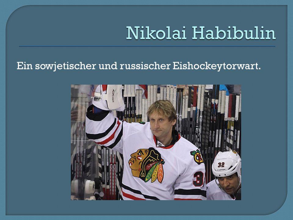 Ein sowjetischer und russischer Eishockeytorwart.