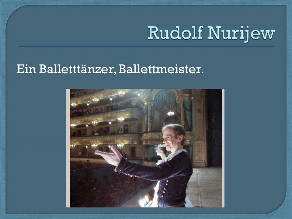 Ein Balletttänzer, Ballettmeister.