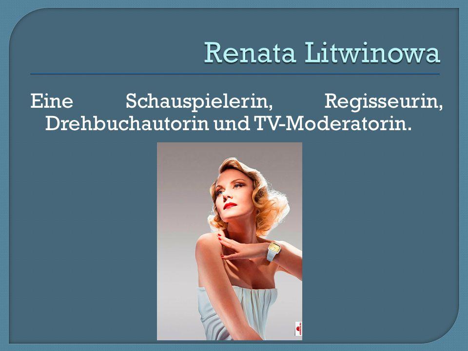 Eine Schauspielerin, Regisseurin, Drehbuchautorin und TV-Moderatorin.