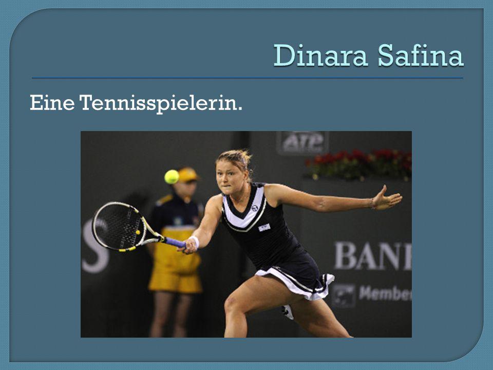 Eine Tennisspielerin.