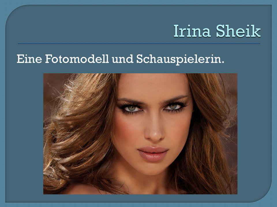 Eine Fotomodell und Schauspielerin.