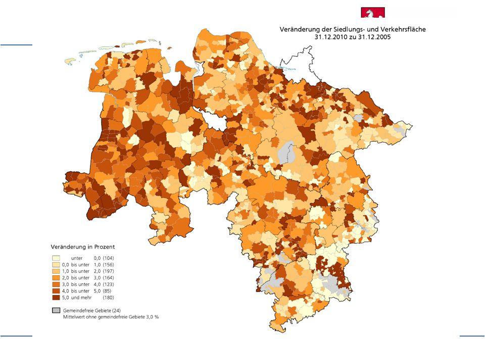 """Grundlage: """"Flächenstatistik Auswertung aus dem Flächenkataster jeweils zum Stand 31.12."""