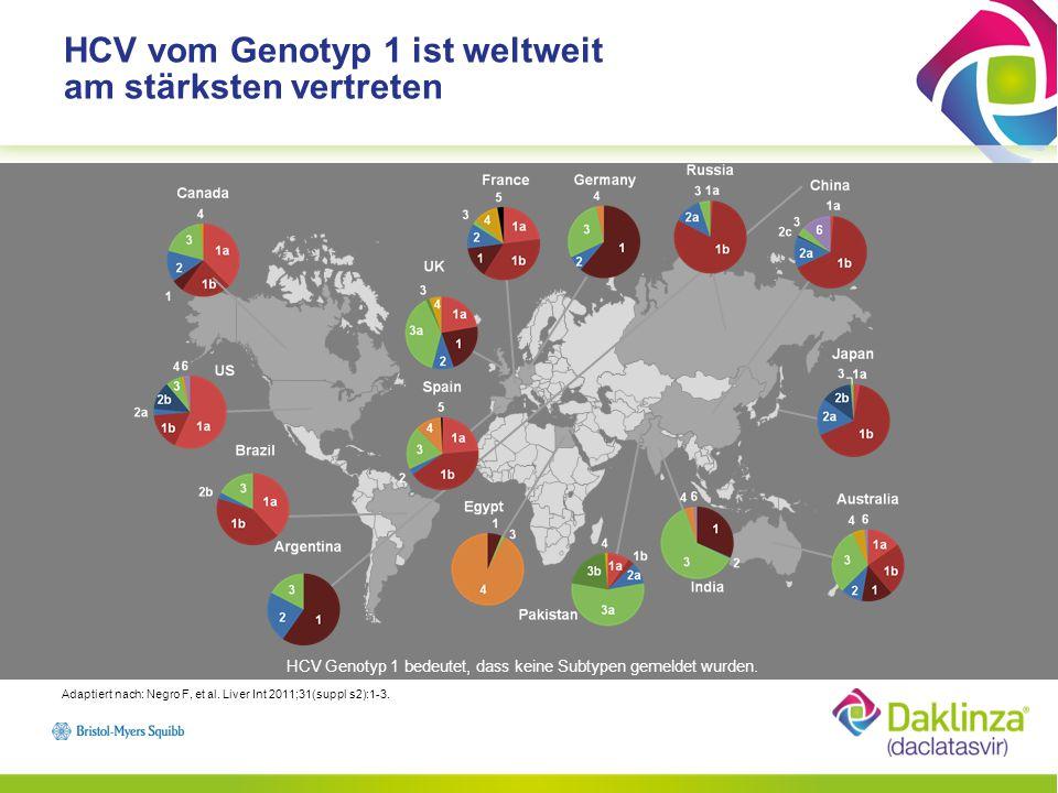 Anstieg der HCV Prävalenzraten in Europa von Ost nach Süd Adaptiert nach :Cornberg M, et al.