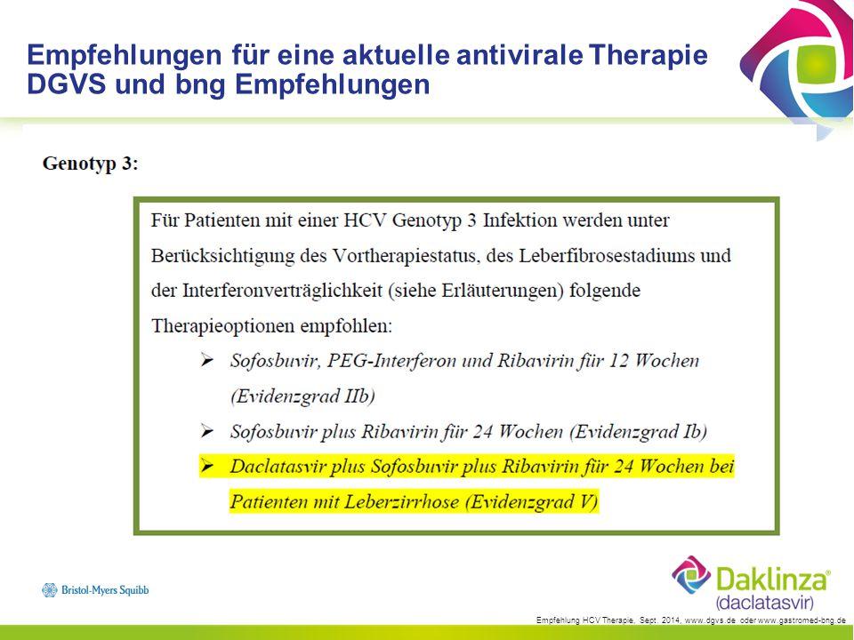 Empfehlung HCV Therapie, Sept.