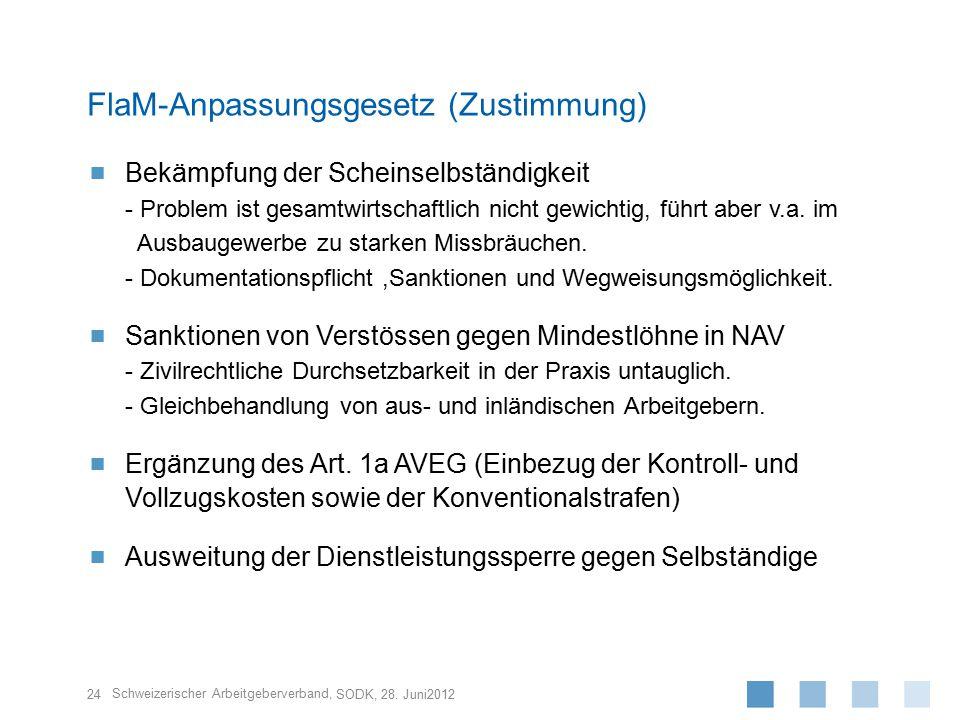 Schweizerischer Arbeitgeberverband,  Bekämpfung der Scheinselbständigkeit - Problem ist gesamtwirtschaftlich nicht gewichtig, führt aber v.a.