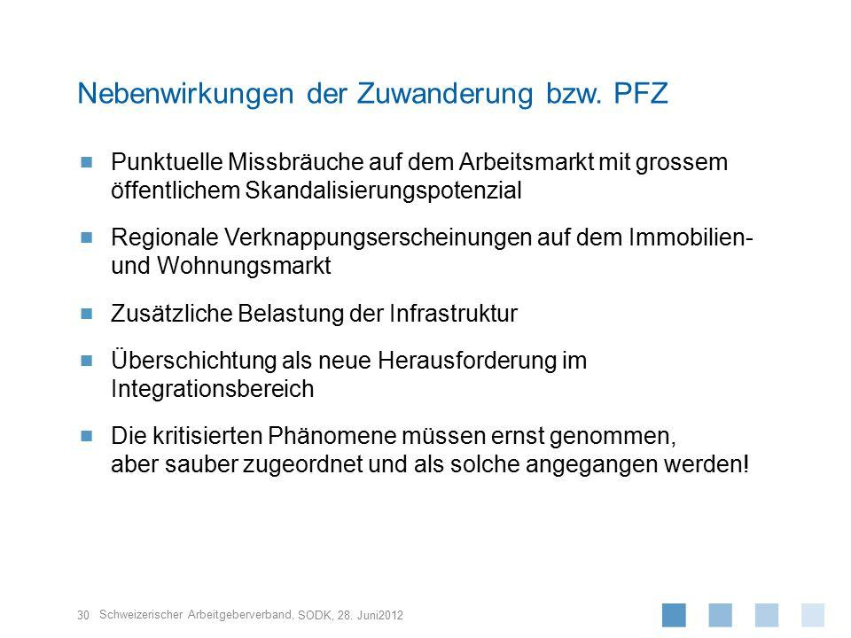 Schweizerischer Arbeitgeberverband,  Punktuelle Missbräuche auf dem Arbeitsmarkt mit grossem öffentlichem Skandalisierungspotenzial  Regionale Verkn