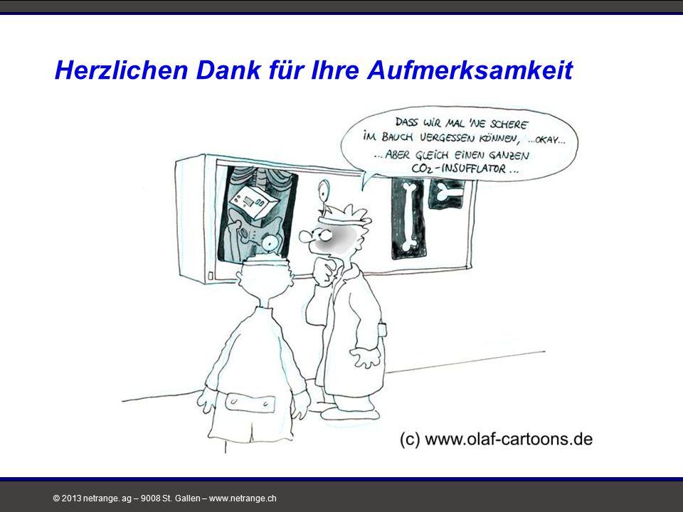 © 2013 netrange. ag – 9008 St. Gallen – www.netrange.ch Herzlichen Dank für Ihre Aufmerksamkeit