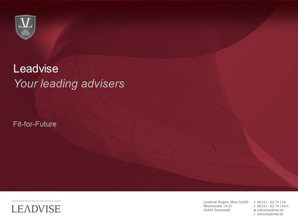 Hier kann eine zweizeilige Headline stehen Your leading advisers Fit-for-Future Leadvise