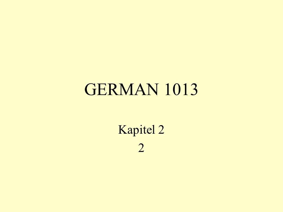 GERMAN 1013 Kapitel 2 2