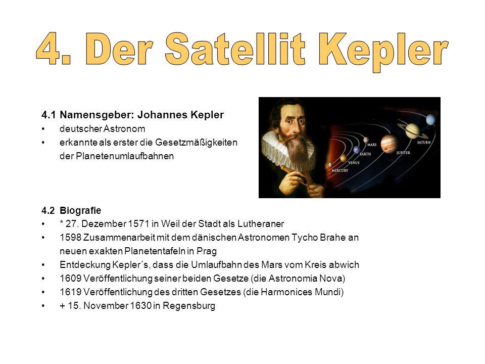 4.1 Namensgeber: Johannes Kepler deutscher Astronom erkannte als erster die Gesetzmäßigkeiten der Planetenumlaufbahnen 4.2 Biografie * 27.