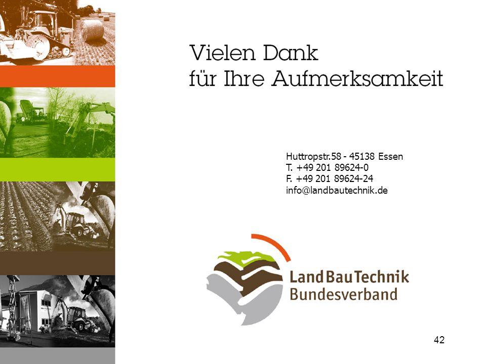 Huttropstr.58 - 45138 Essen T. +49 201 89624-0 F. +49 201 89624-24 info@landbautechnik.de 42