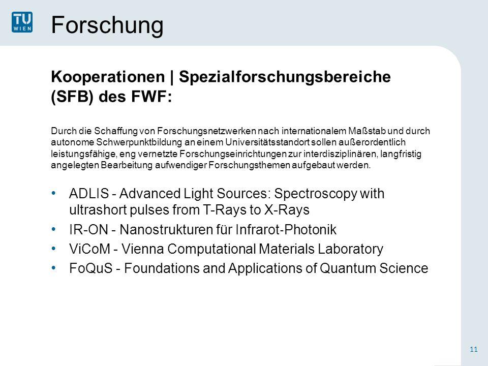Forschung Kooperationen | Spezialforschungsbereiche (SFB) des FWF: Durch die Schaffung von Forschungsnetzwerken nach internationalem Maßstab und durch