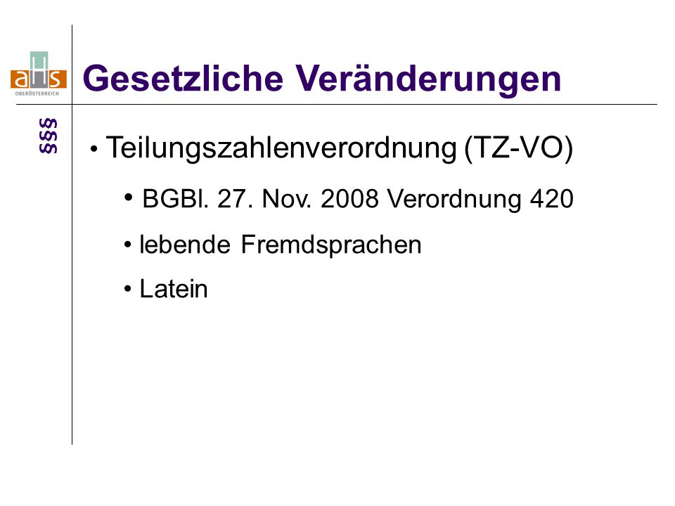 """SCHOG Modellversuch """"Neue Mittelschule Gesetzliche Veränderungen §§§"""
