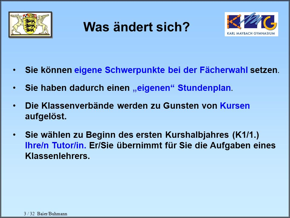 14 / 32 Baier/Buhmann Gesamtqualifikation max.900 Punkte Block I max.