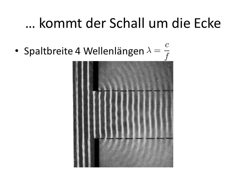 Huygens-Prinzip (Theorie 1) Schallfeld einer Quelle