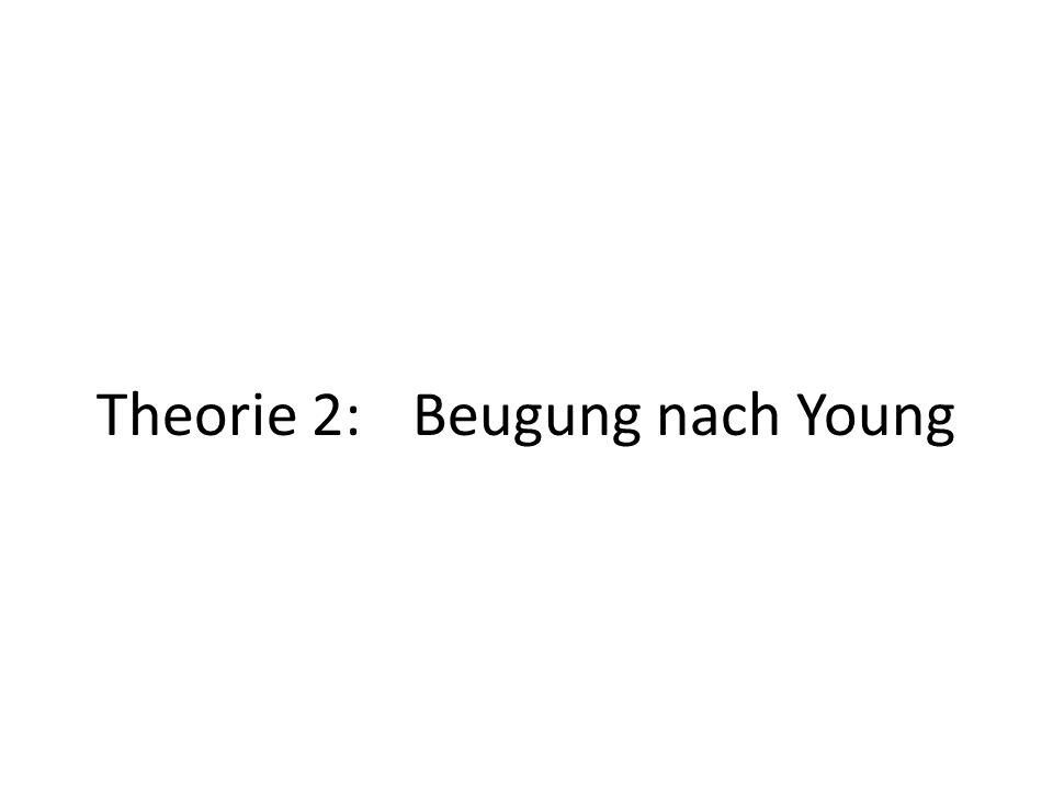 Theorie 2: Beugung nach Young