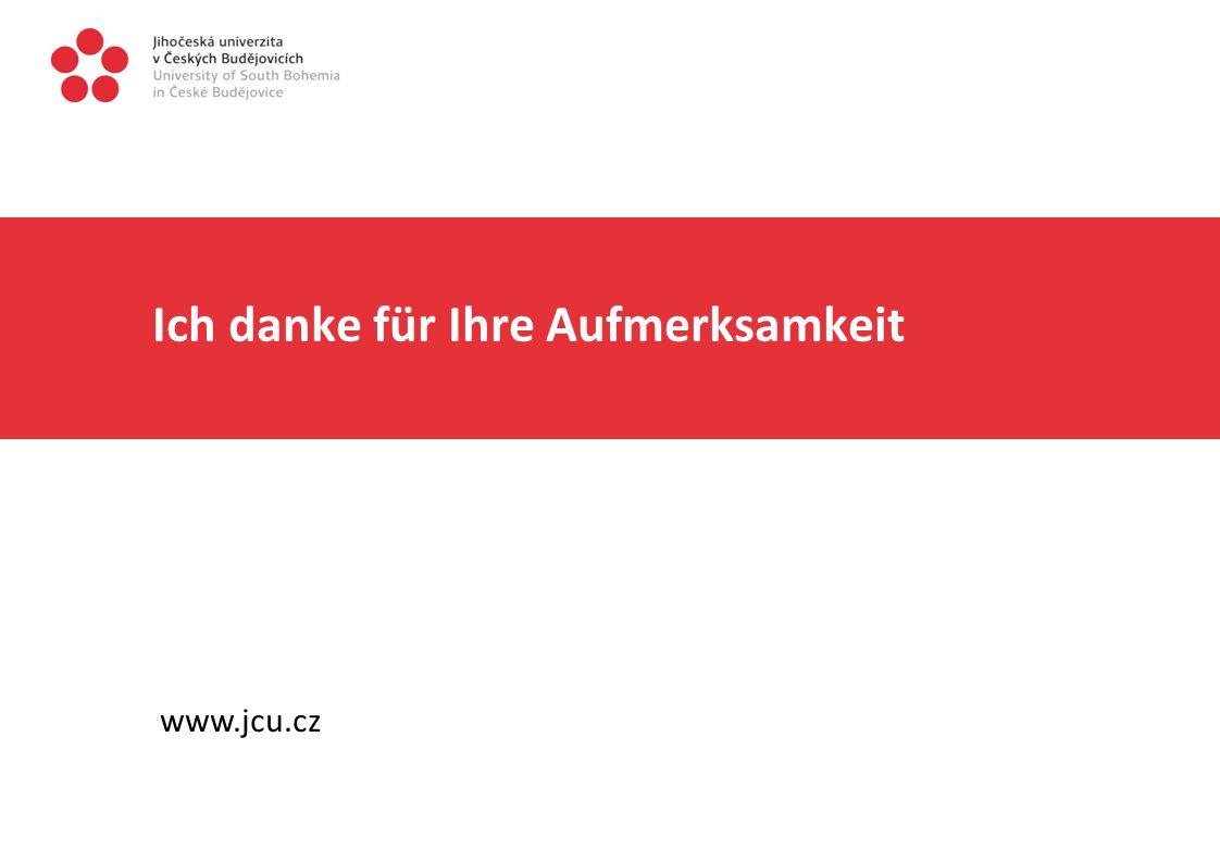 Ich danke für Ihre Aufmerksamkeit www.jcu.cz