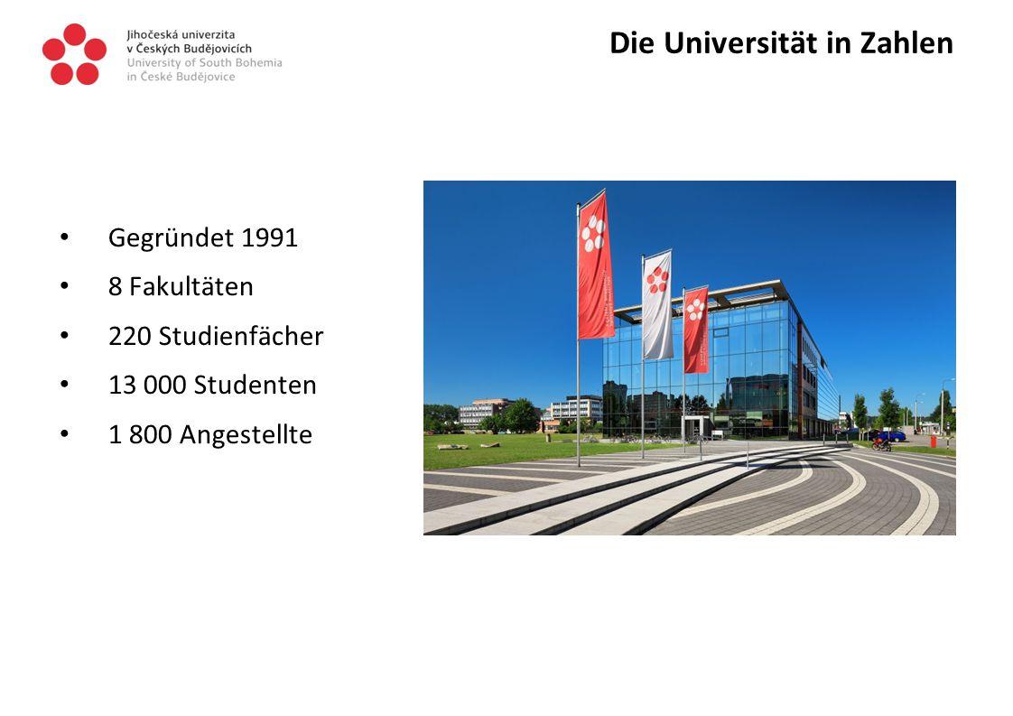 Die Universität in Zahlen Gegründet 1991 8 Fakultäten 220 Studienfächer 13 000 Studenten 1 800 Angestellte