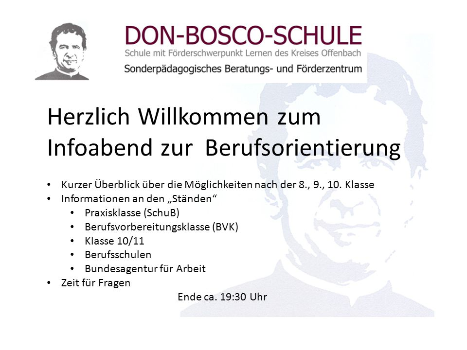 Herzlich Willkommen zum Infoabend zur Berufsorientierung Kurzer Überblick über die Möglichkeiten nach der 8., 9., 10.