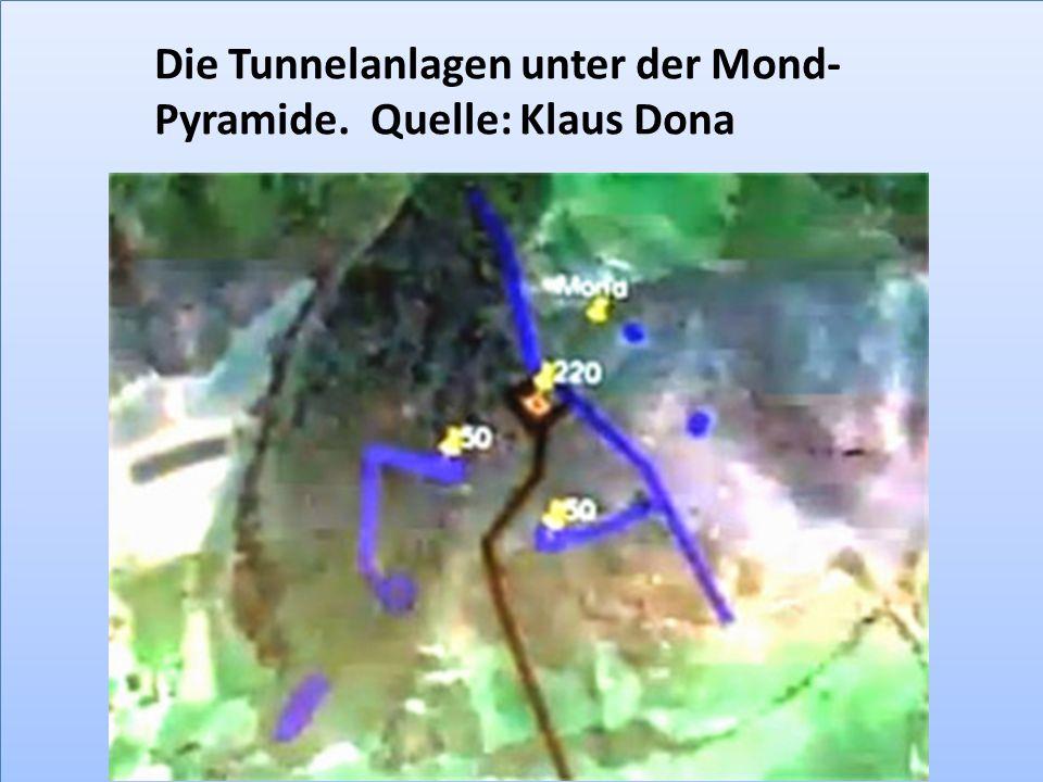 Die Tunnelanlagen unter der Mond- Pyramide. Quelle: Klaus Dona