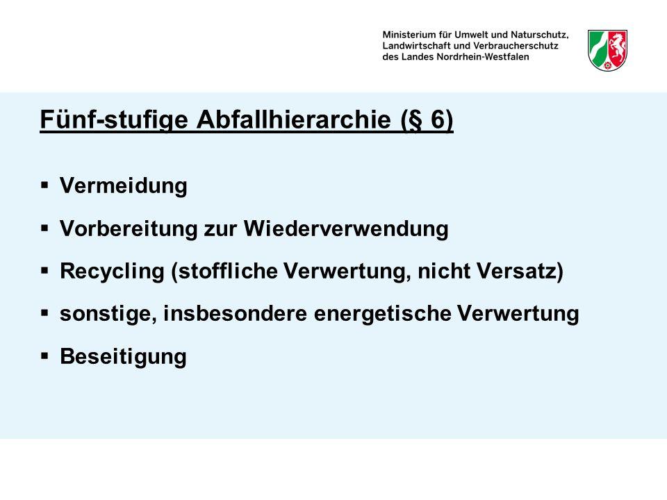 Gewerbliche Sammlungen (§§ 17 und 18)  Wesentliche Beeinträchtigung ist anzunehmen bei 1.Abfallerfassung, für die der ö.r.E.