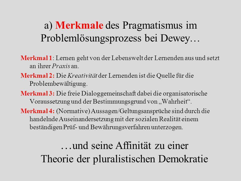 5. Der Pragmatismus als Theorie der Politischen Bildung Das Normativitätsproblem