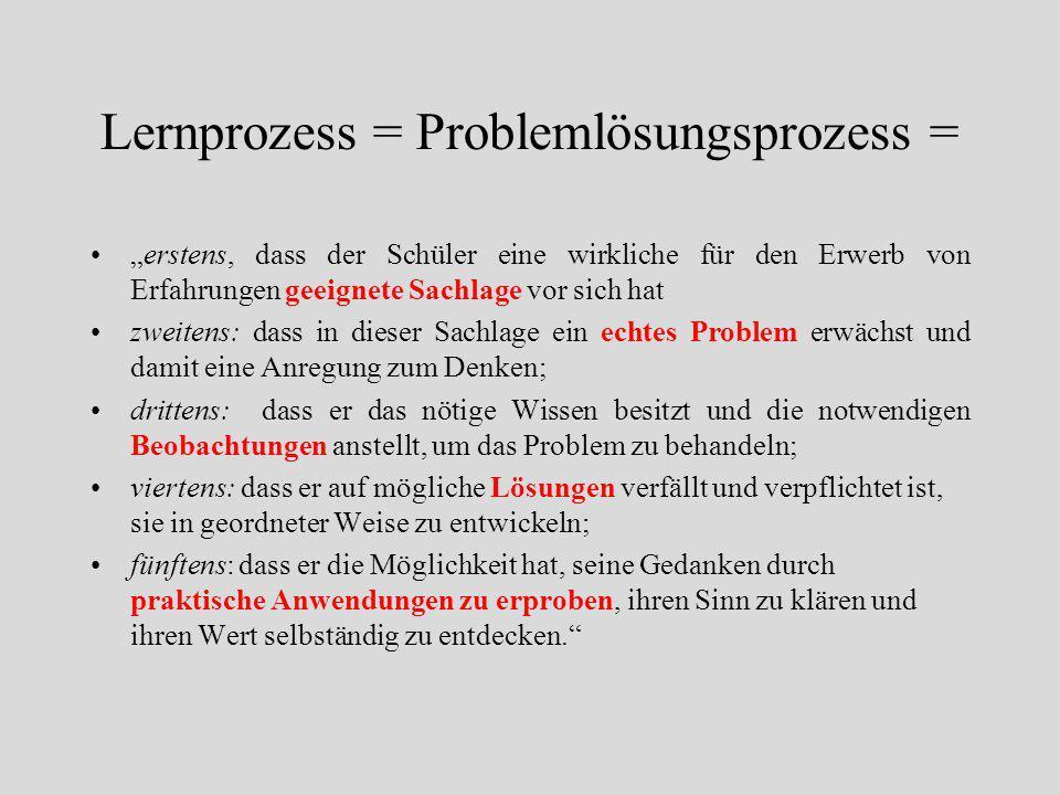 """Deweys Begriff der Erfahrung 1.Der Subjektbezug 2.Subjekt – Objekt: der Gebrauch der Dinge 3.""""Erleiden"""" und """"Einwirken"""" 4.Das Denken in der Erfahrung"""