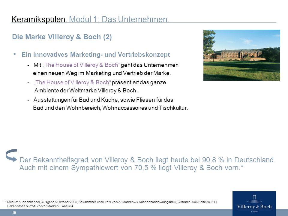 """15  Ein innovatives Marketing- und Vertriebskonzept -Mit """"The House of Villeroy & Boch geht das Unternehmen einen neuen Weg im Marketing und Vertrieb der Marke."""