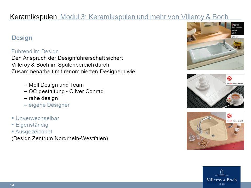 24 Keramikspülen.Modul 3: Keramikspülen und mehr von Villeroy & Boch.