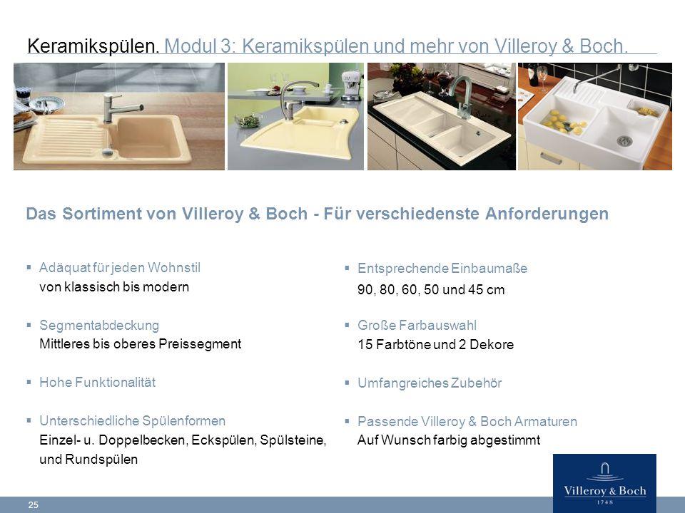 25 Keramikspülen.Modul 3: Keramikspülen und mehr von Villeroy & Boch.