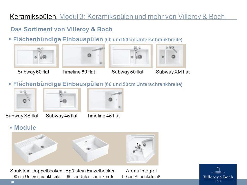 30 Keramikspülen.Modul 3: Keramikspülen und mehr von Villeroy & Boch.