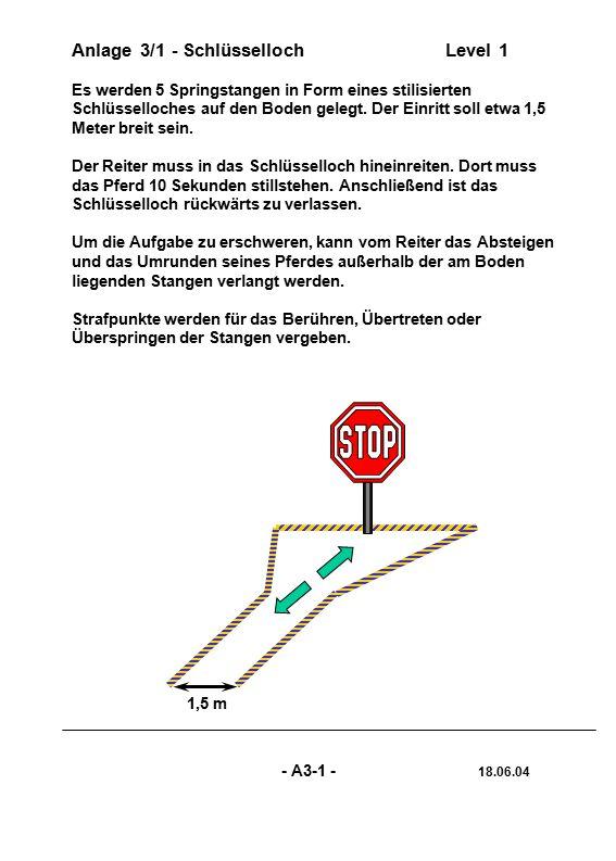 """Anlage 3/12 - RolandreitenLevel 3 Der lebensgroße Oberkörper des holzgeschnitzten, bemalten """"Roland ist horizontal beweglich auf einem stabilen Unterbau angebracht."""