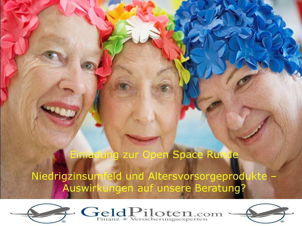 23 © Copyright Allianz Lebensversicherungs-AG Einladung zur Open Space Runde Niedrigzinsumfeld und Altersvorsorgeprodukte – Auswirkungen auf unsere Be